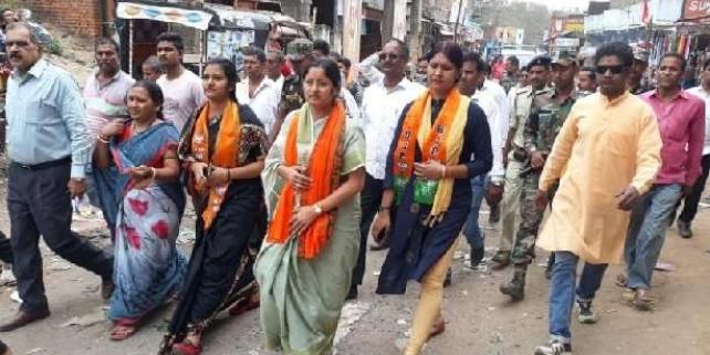 Lok Sabha Election 2019: बाबूलाल के गढ़ पहुंचीं अन्नपूर्णा, मांगा सहयोग