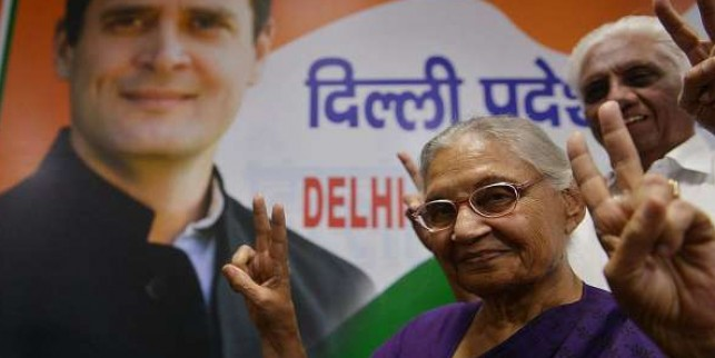 Deeply shocked, angry at words used by PM for Rajiv Gandhi: Sheila Dikshit