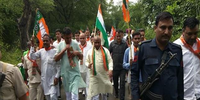 मंत्री कर्ण देव कंबोज ने शुरु की पदयात्रा, देंगे सरकारी योजनाओं की जानकारी
