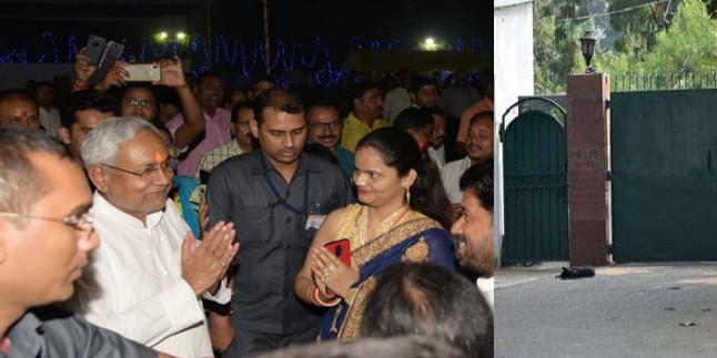 CM नीतीश कुमार के घर छठ की धूम, लालू-राबड़ी आवास पर सन्नाटा