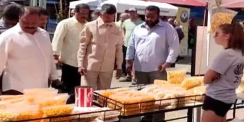 Video of Chandrababu's stroll on US streets goes viral