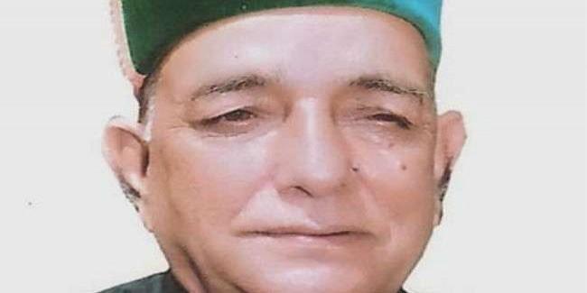 हिमाचल में सराज के पूर्व विधायक पंडित शिव लाल नहीं रहे