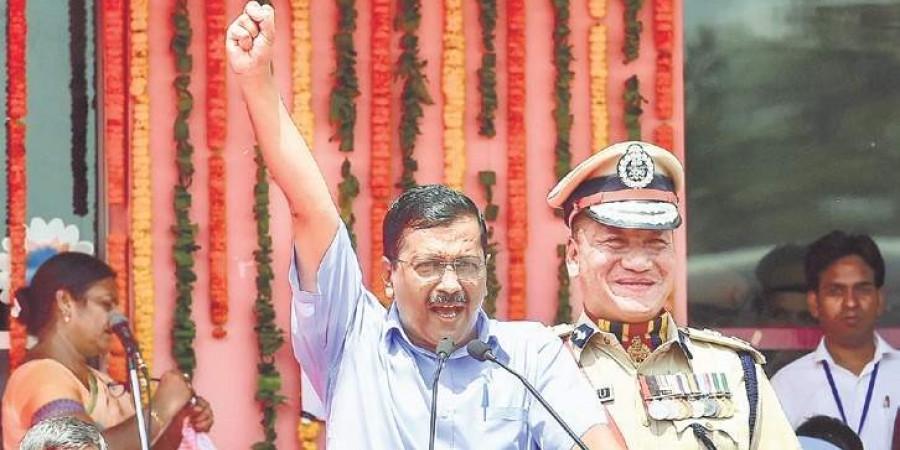 Delhi CM Arvind Kejriwal touts his government's work