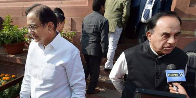 कांग्रेस नेता चिदंबरम एक बार फिर से भाजपा नेता सुब्रमणयम स्वामी के निशाने पर