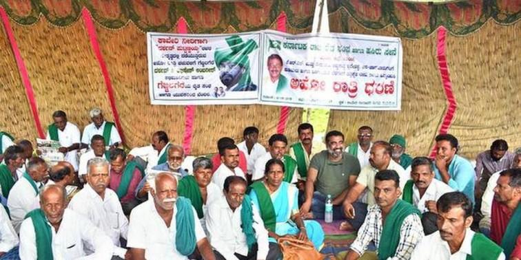 Farmers' strike enters third day in Mandya