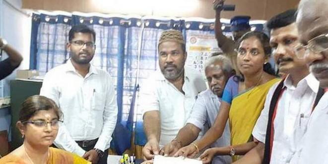 Senthil Balaji files nomination papers