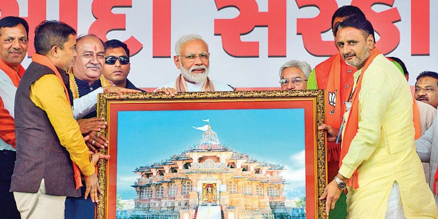 PM Narendra Modi says the country needs a strong, not weak govt