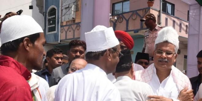 CM भूपेश बघेल ने ईदगाह भाठा पहुंचकर दी ईद की मुबारकबाद