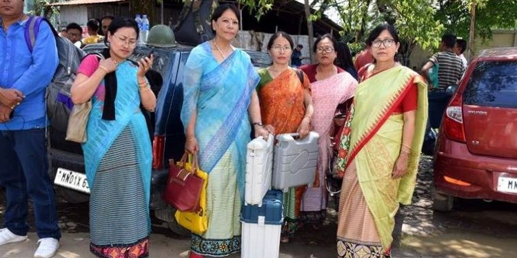 women poll officers man an entire assembly in the state