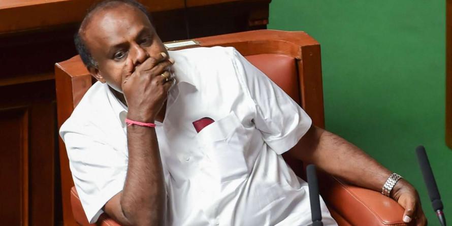 HD Kumaraswamy Keeps Option of Tie-Up with Congress Open