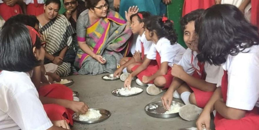 School in Hooghly gives salt and rice instead of midday meal, BJP MP Locket Chatterjee expresses outrage