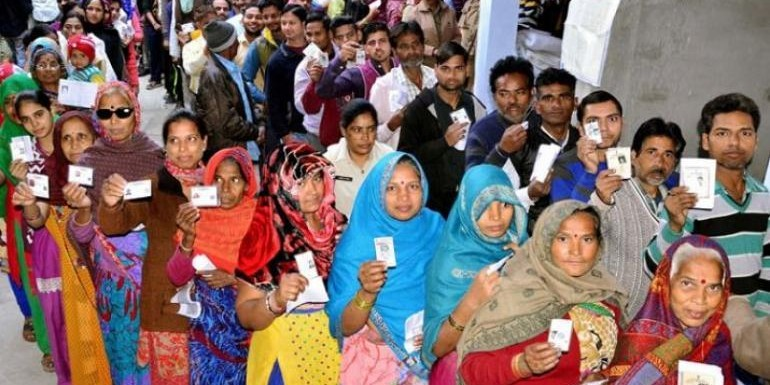 Polling underway in 8 seats of Madhya Pradesh