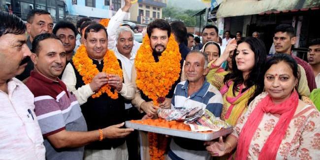 हिमाचल के कर्ज में डूबने के पीछे कांग्रेस जिम्मेदार: अनुराग ठाकुर