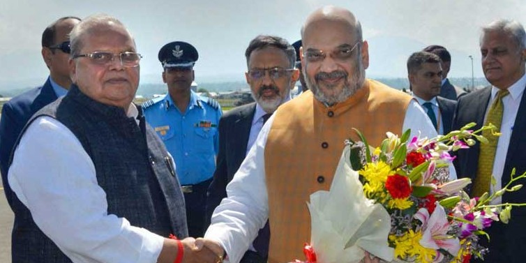 Amit Shah reviews security in Jammu and Kashmir in first official visit