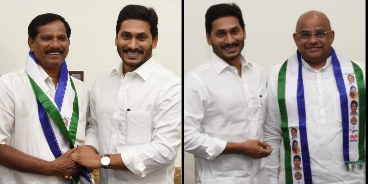 Two senior Andhra politicians meet CM Jagan, join YSRCP