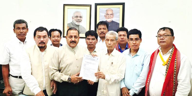 Tripura Ministers' led delegation meets Dr Jitendra