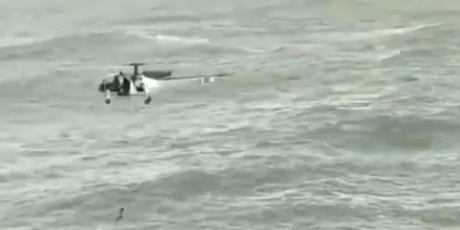 Coast Guard Helicopter Rescues Man From Drowning Off Goa