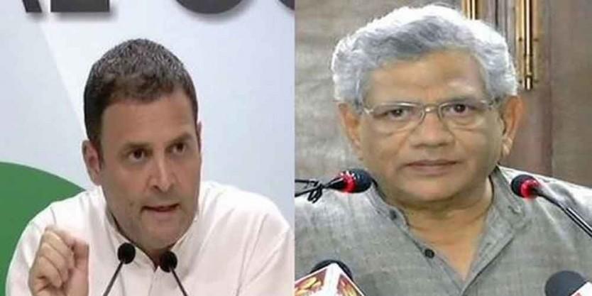 Sitaram Yechury meets Rahul, Naidu; discusses a post-poll scenario