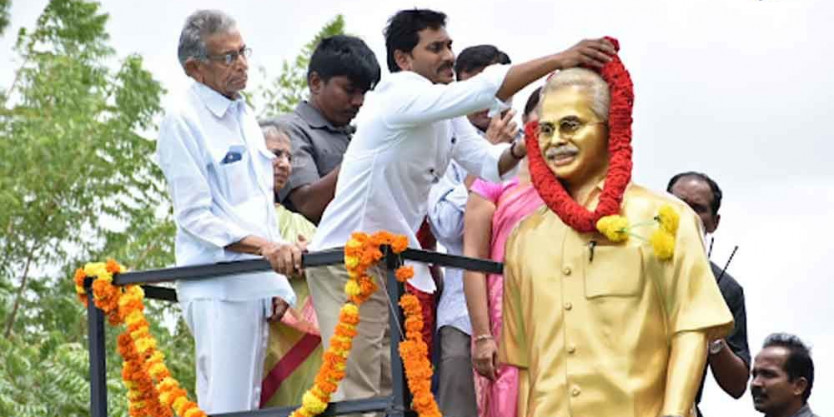 CM Jagan unveils late YS Vivekananda Reddy's statue in Pulivendula