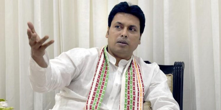 CM Biplab Deb welcomes surrendered NLFT militants to the mainstream