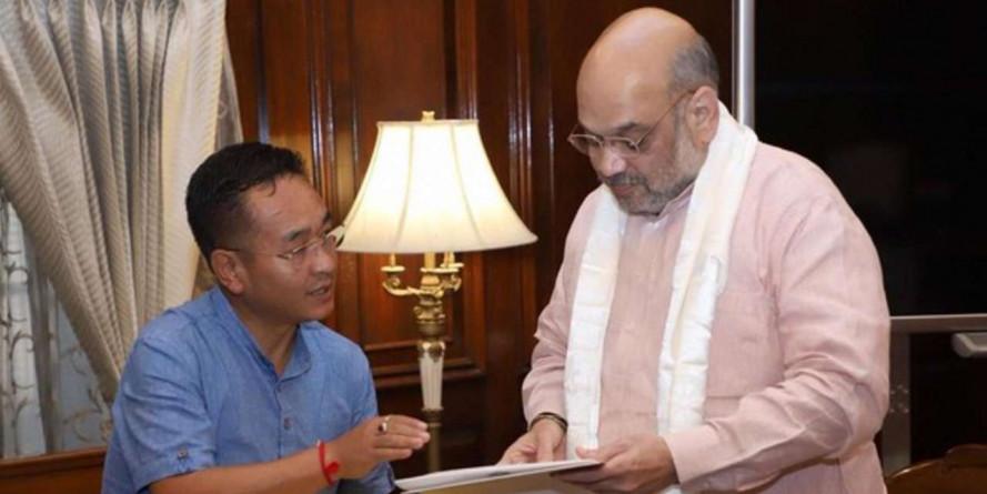 Sikkim CM Prem Singh Tamang meets Home Minister Amit Shah