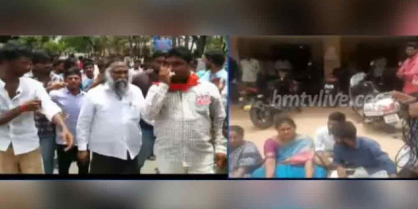 Jagga Reddy's wife arrested for staging protest at Sangareddy