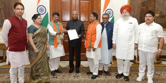 BJP Seek Intervention in West Bengal, Meets President Kovind