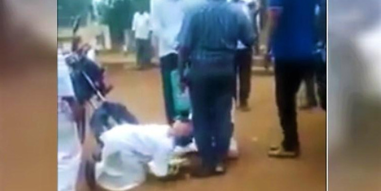Telangana farmers fall at official's feet over land issue, video goes viral