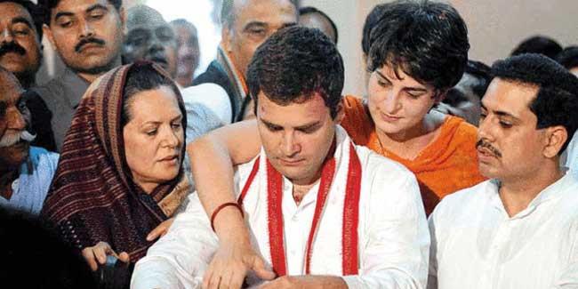 कांग्रेस परिवारवाद से मुक्त नहीं होने वाली - 'गांधी' नहीं तो 'वाड्रा' सही!