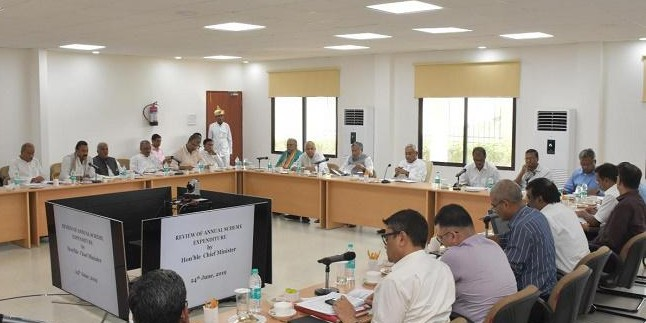 सीएम नीतीश ने की वित्त विभाग द्वारा आयोजित राजस्व प्राप्ति वाले विभागों की समीक्षा बैठक