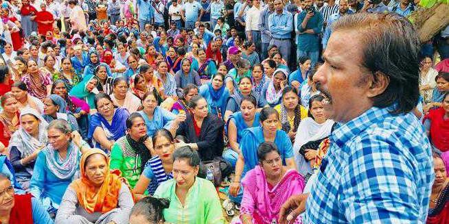 Sanitation staff strike work, but services unaffected