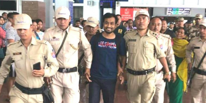 Escaped NSA detainee Kangleipal arrested as Manipur Maoist brought back to Imphal