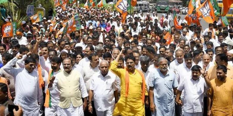 JSW land row: BJP tries to lay siege to CM's home office