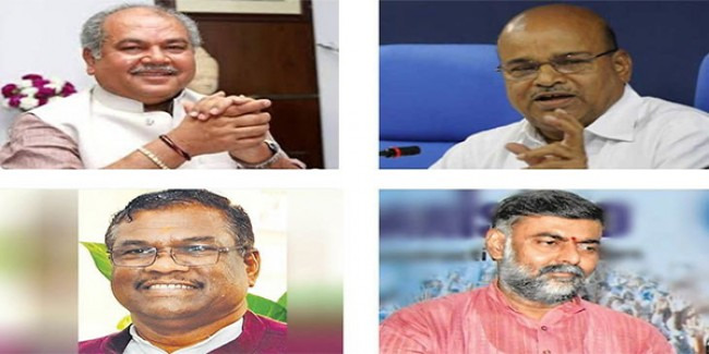 मोदी सरकार में प्रदेश से चार मंत्री, नरेंद्र तोमर, थावरचंद्र, प्रहलाद पटेल और फग्गन सिंह ने ली शपथ