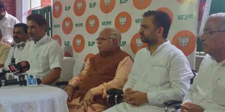 बीजेपी में शामिल हुए तीन पूर्व विधायक, मुख्यमंत्री और प्रदेशाध्यक्ष ने दिलाई पार्टी की सदस्यता
