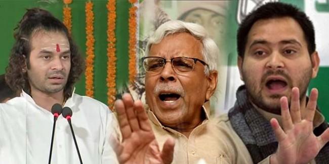 राजद उपाध्यक्ष शिवानंद तिवारी ने सिर्फ तेजस्वी को ललकारा था, मांद से बाहर आ गए 'दो शेर!'