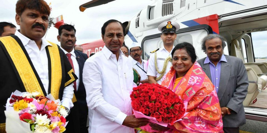 Tamilisai Soundararajan sworn in as first woman governor of Telangana at Raj Bhavan