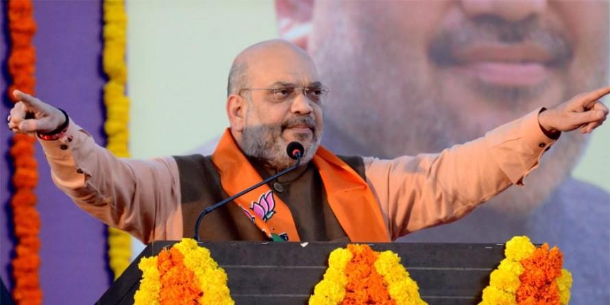 मनोहर पर्रिकर बीमारी में भी देश सेवा कर रहे और राहुल गांधी घटिया राजनीति : अमित शाह