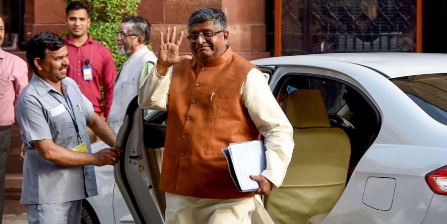 Ravi Shankar Prasad takes charge of Telecom Ministry; returns for second innings in IT, Law