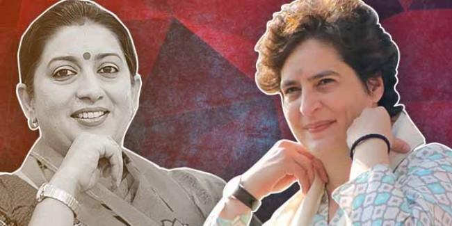 'प्रियंका गांधी अपने पति से ज्यादा मेरा नाम लेती हैं', अमेठी में स्मृति ईरानी ने मारा ताना