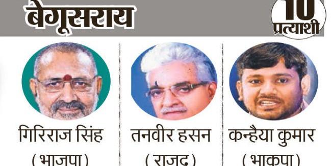 दरभंगा, उजियारपुर, समस्तीपुर बेगूसराय व मुंगेर में मतदान आज, बेगूसराय सीट पर देश-दुनिया की है नजर