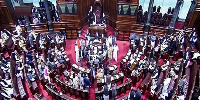कर्नाटक मुद्दे पर कांग्रेस का हंगामा, राज्यसभा दोपहर 2 बजे तक स्थगित