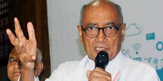 कांग्रेस नेता दिग्विजय सिंह का दावा- ISI से फंड लेती है बीजेपी और बजरंग दल