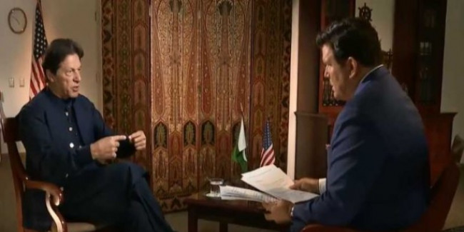 'भारत अपने परमाणु हथियार त्याग दे, हम भी छोड़ देंगे', अमेरिका में बोले इमरान खान
