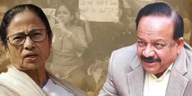 स्वास्थ्य मंत्री हर्षवर्धन की ममता से अपील, अपनी प्रतिष्ठा का मुद्दा नहीं बनाए