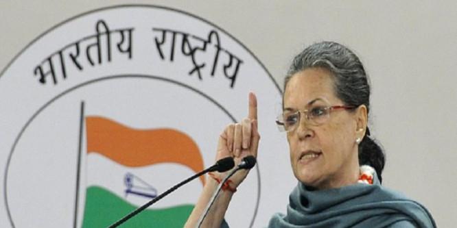 Sonia reminds Modi of 'raj dharma' towards farmers on Diwali