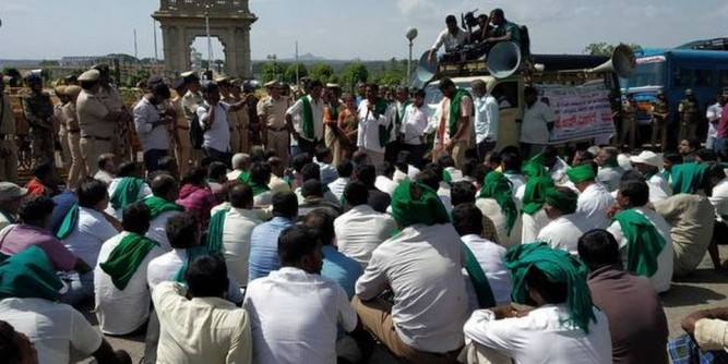 Farmers' attempt to lay siege to KRS thwarted