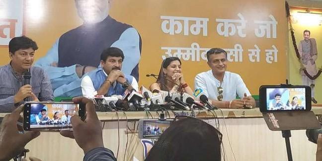 सपना ने पहली ही प्रेसवार्ता में दिल्ली के सीएम को निशाने पर लिया, कहा- मुझे केजरीवाल पसंद नहीं