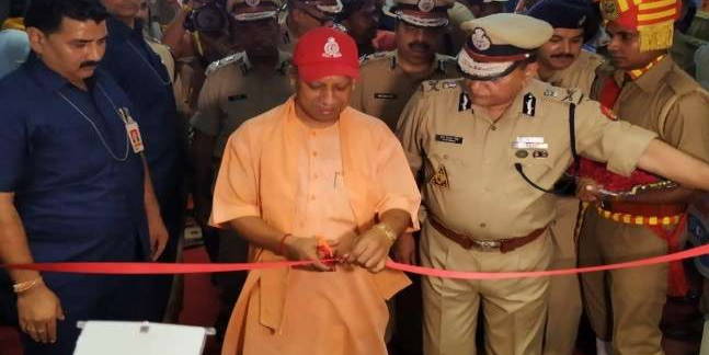 मंत्रोच्चार के बीच मुख्यमंत्री योगी आदित्यनाथ ने नए पुलिस मुख्यालय का किया उद्घाटन