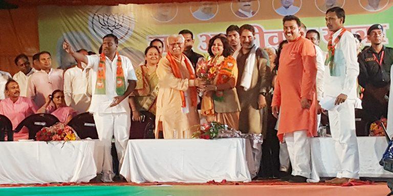 कांग्रेस को झटका, पूर्व विधायक शारदा राठौर भाजपा में शामिल